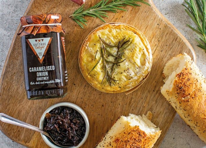 Serve with Camembert and hot crusty bread