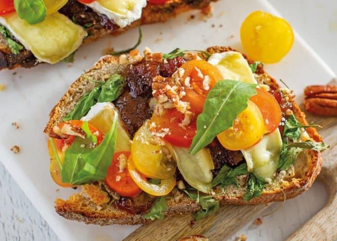 Spread on a cheese & salad toasties