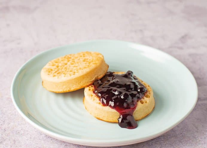 Spread over buttery crumpets