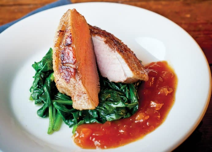 Duck with Apricot Chutney Sauce
