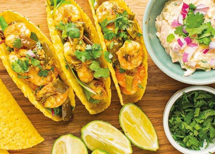 Spicy King Prawn Tacos