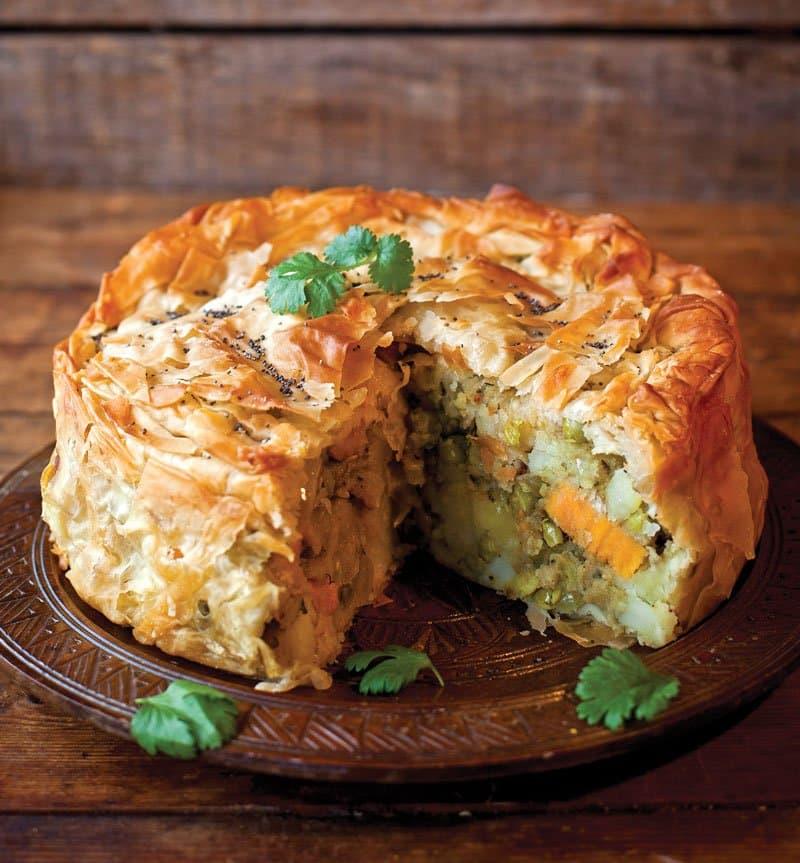 Indian Spiced Potato Pie