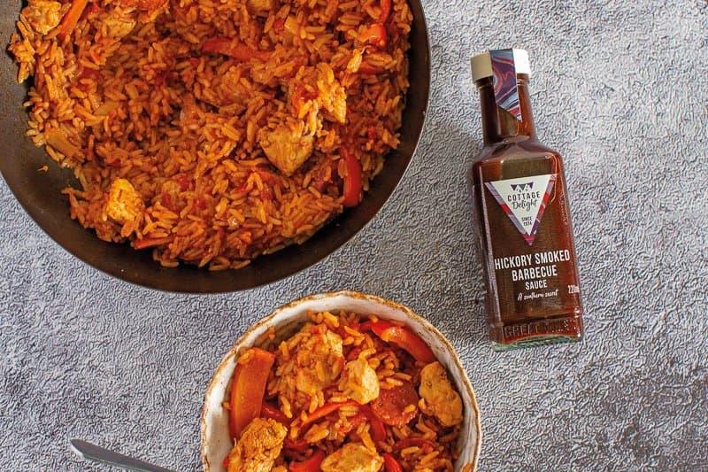 Barbecue Chicken & Chorizo Jambalaya