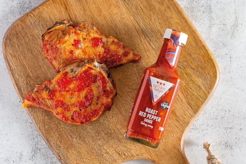 Roast Red Pepper Pork Chops