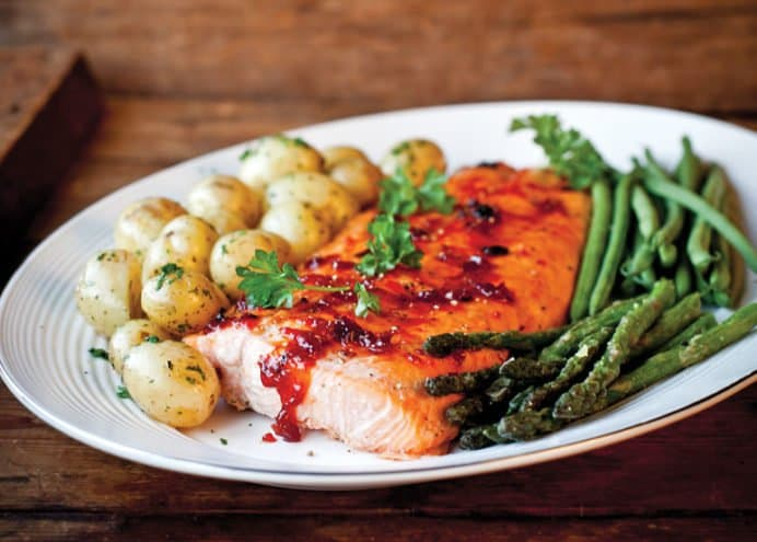Roasted Salmon with Chilli Jam