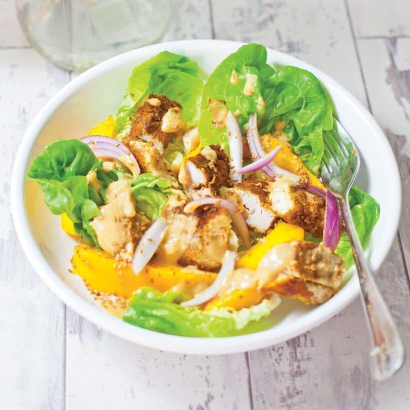 Spicy Mango and Ginger Chicken Salad