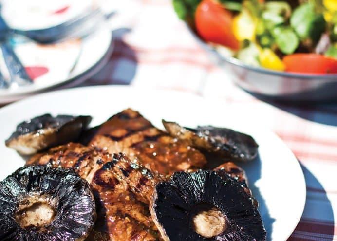 Steak Mushroom and Beer