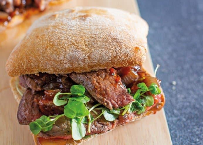 Peppered Steak & Onion Sandwich