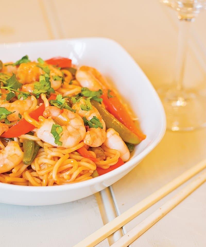 Thai Chilli Prawn Noodles