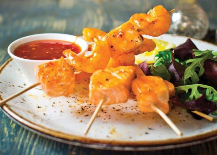 Thai Sweet Seafood Skewers