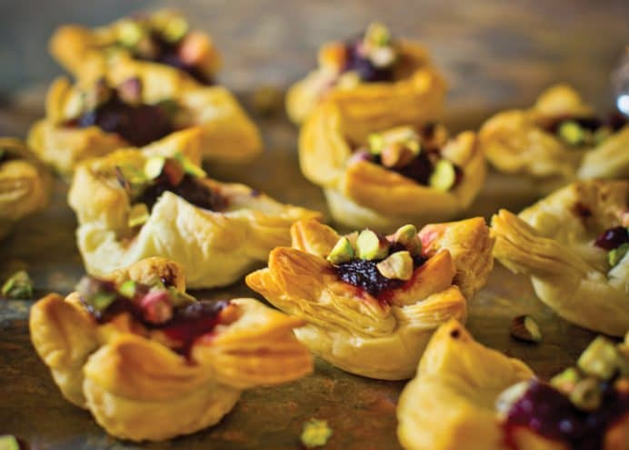 cranberry cheese parcels