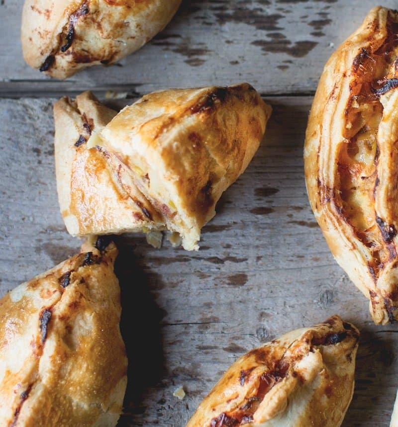 Cheesy Leek and Potato Pastries