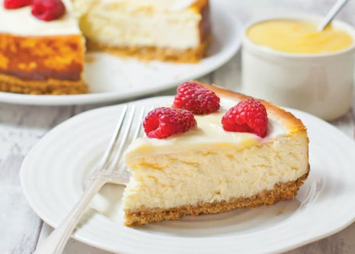 Swirl into cheesecake topping mix