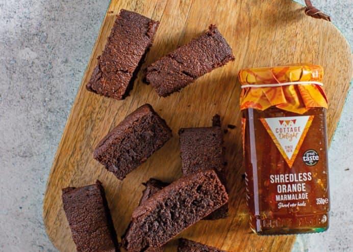 Shredless Orange Marmalade Brownies