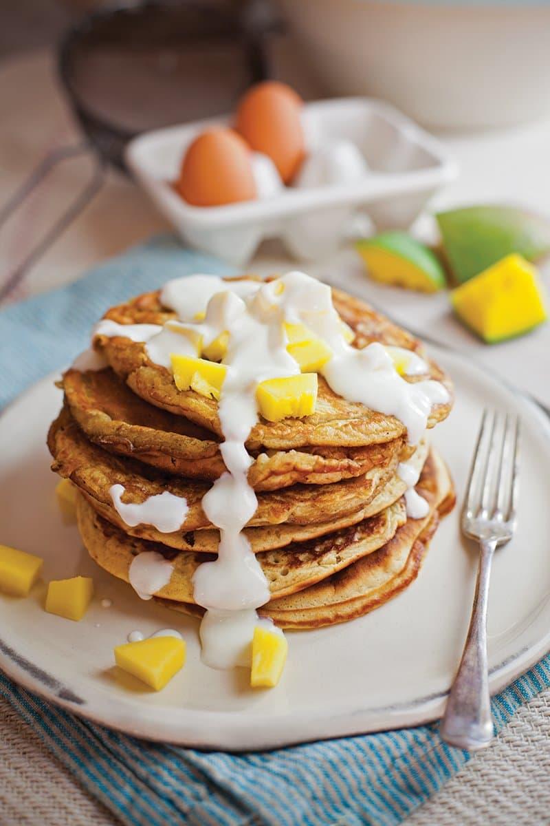 mango marmalade pancakes