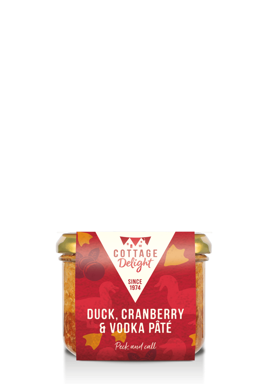 duck cranberry and vodka pate