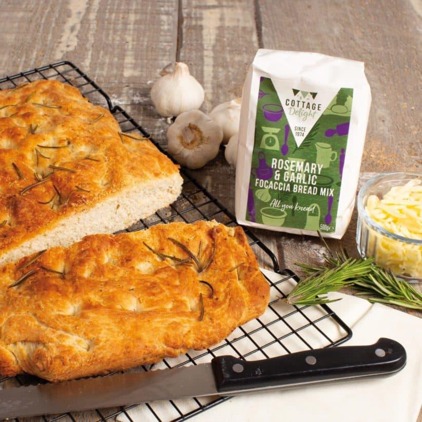 Rosemary and garlic focaccia bread mix