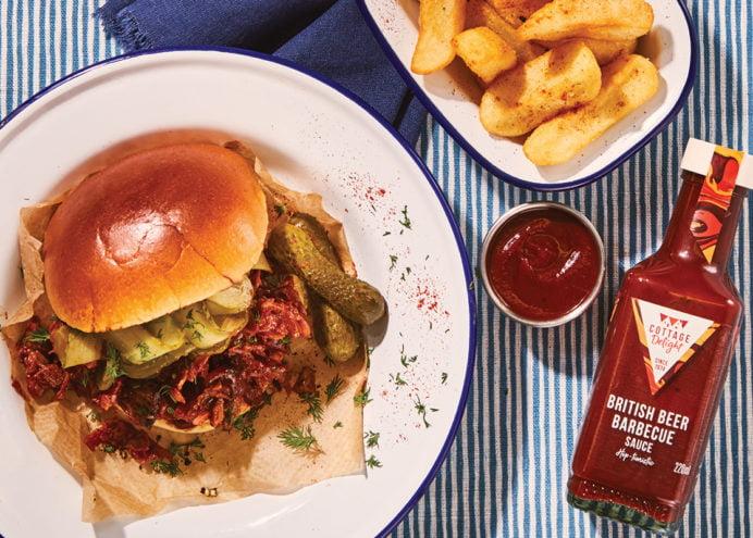 Pulled Pork Burger with British BBQ Sauce