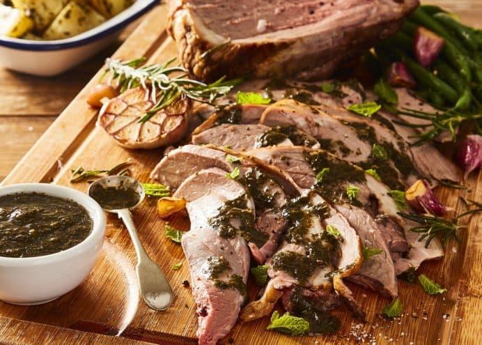 Lemon & herb roast lamb