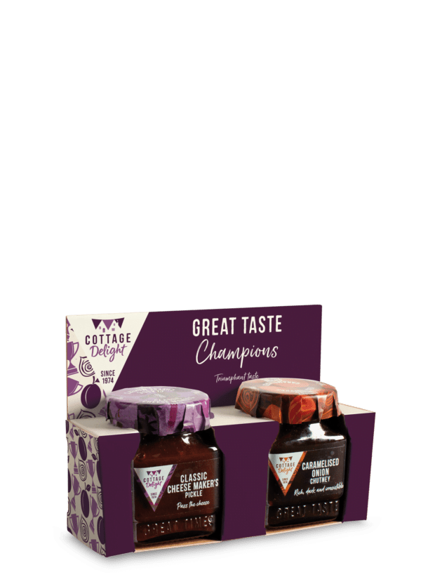 Great taste champions classic cheese makers pickle and caramelised onion chutney