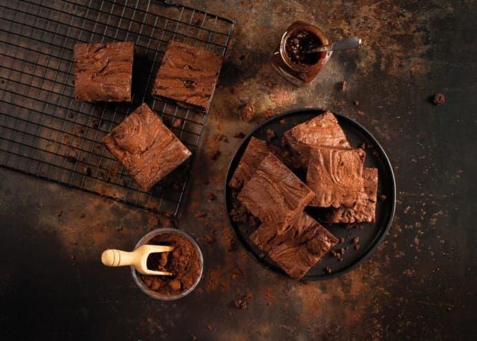 chocolate orange caramel spread brownies
